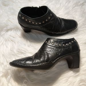 Josef Seibel Studded Leather Bootie Ankle Boots 39
